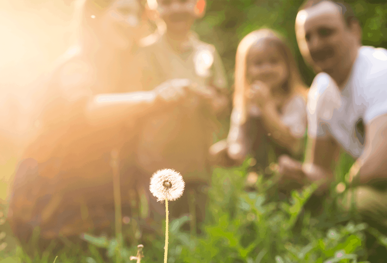 Family outdoors treated for allergies by Dr. Farnam at Adult and Children Allergy and Asthma Center in Pasadena, CA.