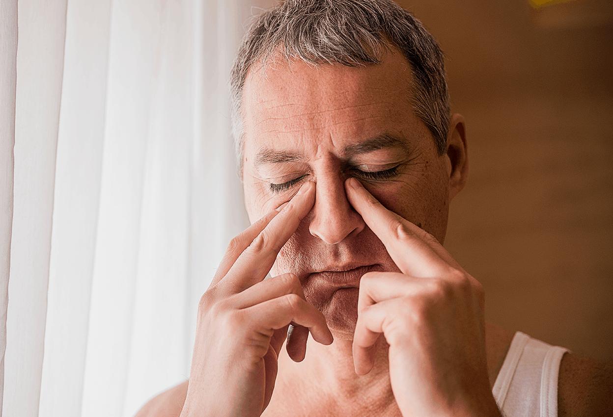 Man with acute sinusitis.